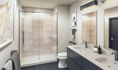 Bathroom, The Revival on Carson, 2
