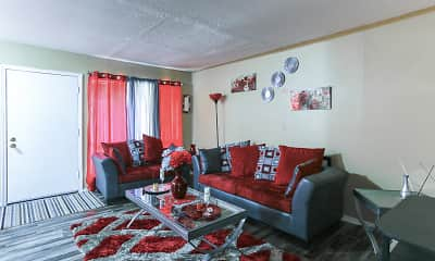 Living Room, Cherry Creek Apartments, 1