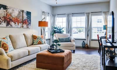 Living Room, Thomaston Crossing Apartment Homes, 1