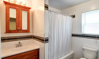 Bathroom, Stratford Apartments, 2