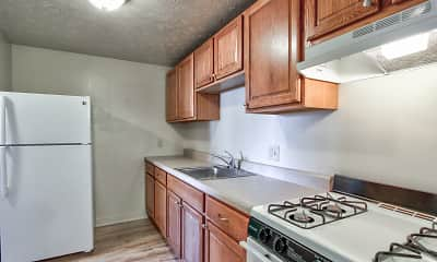 Kitchen, Lake Street Apartments, 1