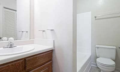 Bathroom, Turtle Cove Apartments, 2