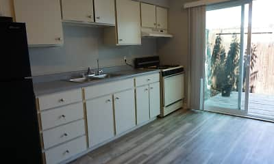 Kitchen, Hillcrest Apartments, 2