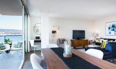 Living Room, Panomar Apartments, 1