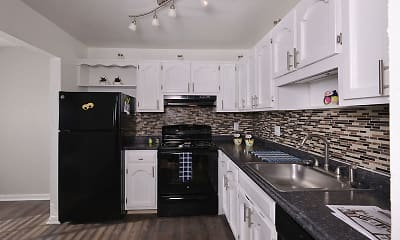 Kitchen, Brickyard Flats, 1