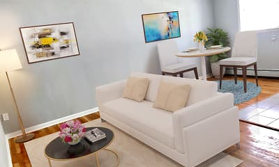 Living Room, Ross Apartments, 1