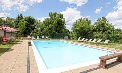Pool, Bower Hill III Apartments, 0
