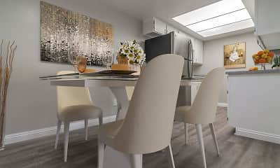 Dining Room, Laurel Heights Apartments, 1