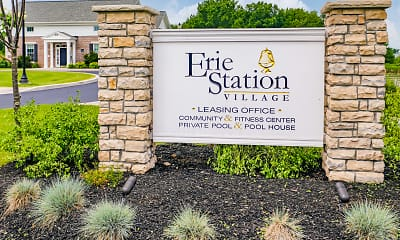 Community Signage, Erie Station Village, 2