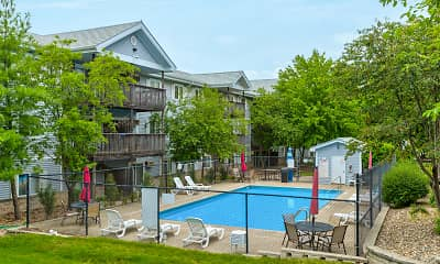 Pool, Cross Creek Apartments, 1