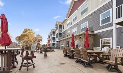 Patio / Deck, The Estates At Arbor Oaks Independent Senior, 1