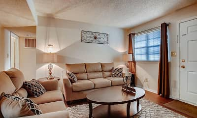 Living Room, The Cove Apartment Homes, 1