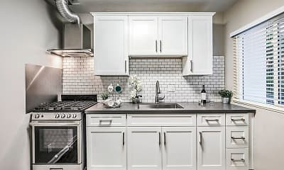 Kitchen, Island Apartments, 0