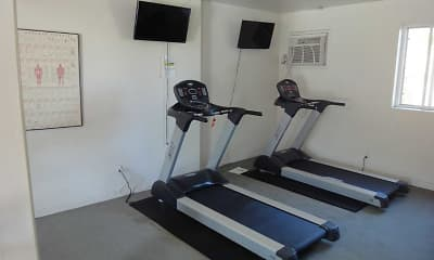 Fitness Weight Room, Palm Garden Apartments, 1