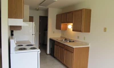 Kitchen, Lawndale Apartments, 0
