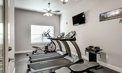 Fitness Weight Room, The Frisco Apartments, 2
