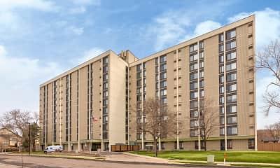 Building, Hopkins Village Apartments, 0