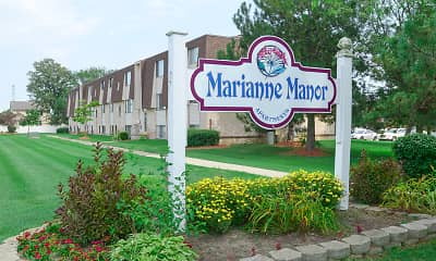 Community Signage, Marianne Manor, 1
