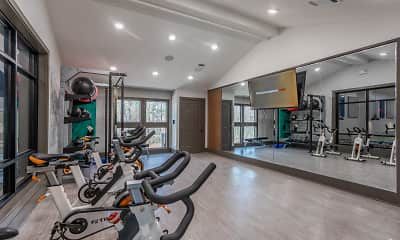 Fitness Weight Room, The Columns at Vinings, 1
