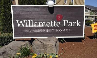 Community Signage, Willamette Park I & II, 2
