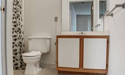 Bathroom, Carrollton Village Senior Citizens Apartments, 2