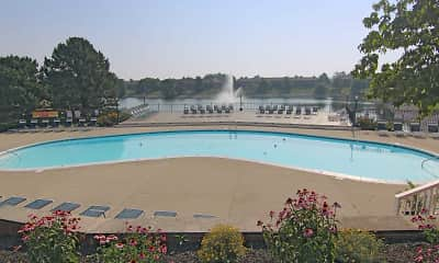 Pool, River Road Apartments, 1