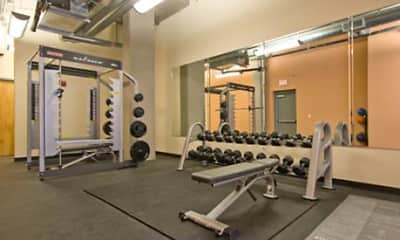 Fitness Weight Room, Venue on Guadalupe - Per Bed Lease, 2