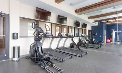 Fitness Weight Room, SilkLofts, 1