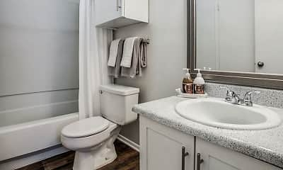 Bathroom, Wood Trail Apartments, 2