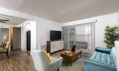 Living Room, El Cordova Apartments, 1