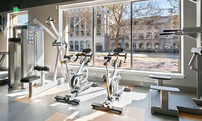 Fitness Weight Room, Eagle Gate Apartments, 2