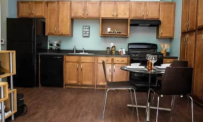 Kitchen, King Rampart Apartments, 2