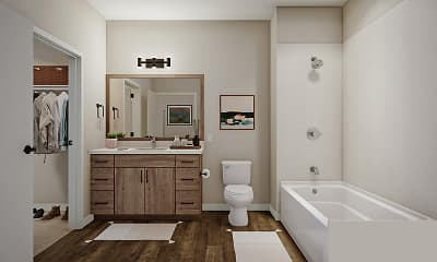 Bathroom, Noko Apartments, 2