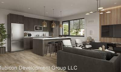 Living Room, St. Barts Apartments, 2