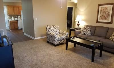 Living Room, Mountain View Apartments, 1