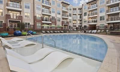 Pool, Camden Southline Apartments, 0