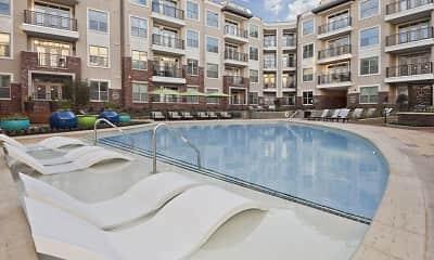 Pool, Camden Southline Apartments, 0