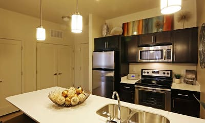 Kitchen, The Vue at Sugarhouse Crossing, 1