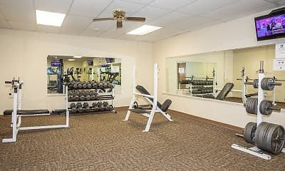 Fitness Weight Room, Eagle Park Apartments, 1