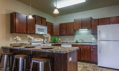 Kitchen, Whispering Creek at Prairie Grove 55+, 0