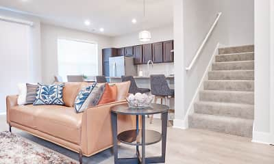 Living Room, Preserve Townhomes, 2