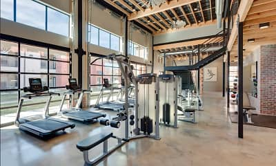 Fitness Weight Room, Turnberry Place at Bluebonnet, 0