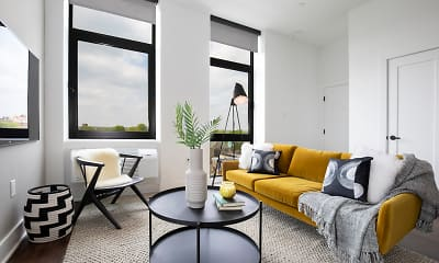 Living Room, The Irvine Apartments, 1