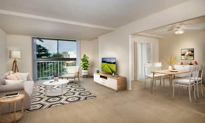 Living Room, London Park Towers, 0