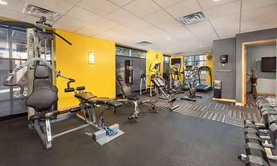 Fitness Weight Room, Gaslight Lofts Apartments, 2