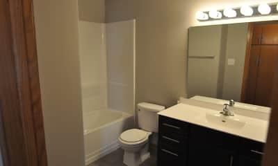 Bathroom, Skaff Apartments - Moorhead, 2