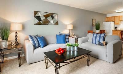 Living Room, Indian Springs Apartments and Townhomes, 1