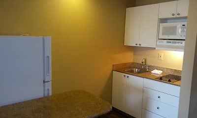 Kitchen, Furnished Studio - Columbus - Polaris, 1