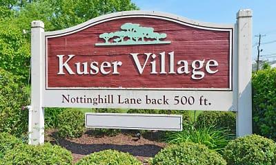 Community Signage, Kuser Village, 2