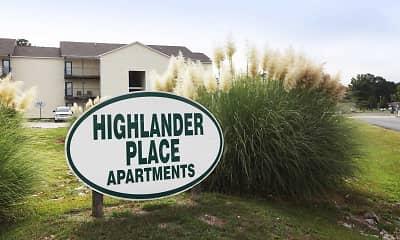 Community Signage, Highlander Rentals, 2